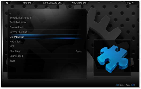 XBMC 10 0 (Dharma) with built in addon support – Linux Fool